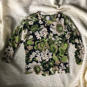 J. Crew Sweaters - 🍃JCREW 🍃 Floral button sweater